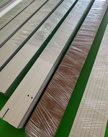 different finishes for aluminum profiles